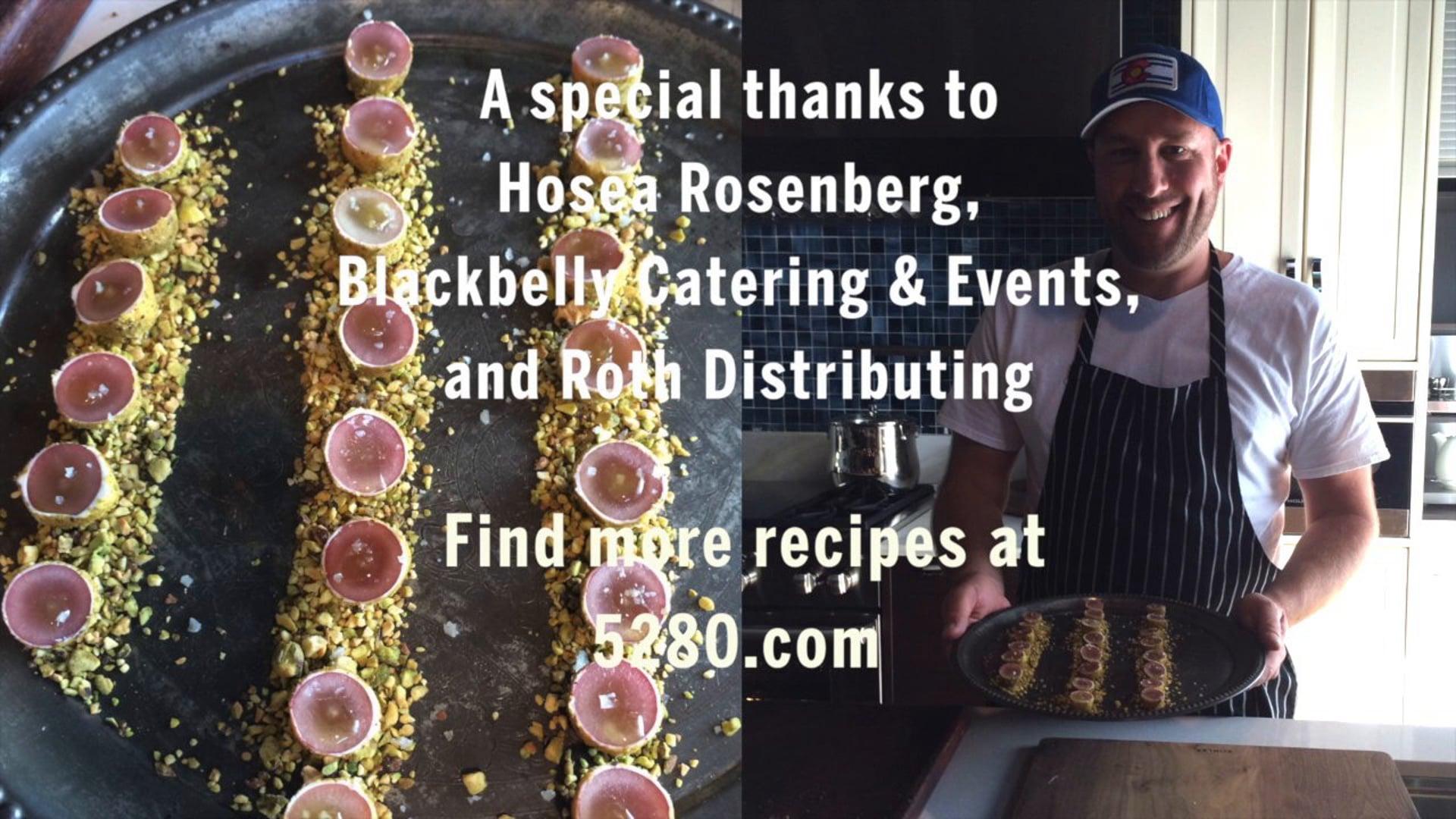 "Hosea Rosenberg Makes One of His Specialties: Grape, Pistachio & Goat Cheese ""Truffles"""
