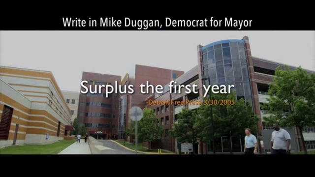 """Turnaround Detroit supporting Write-In Candidate Mike Duggan for Mayor, """"They Said"""""""