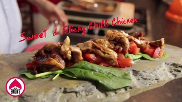 Édes és ragacsos chili csirke recept