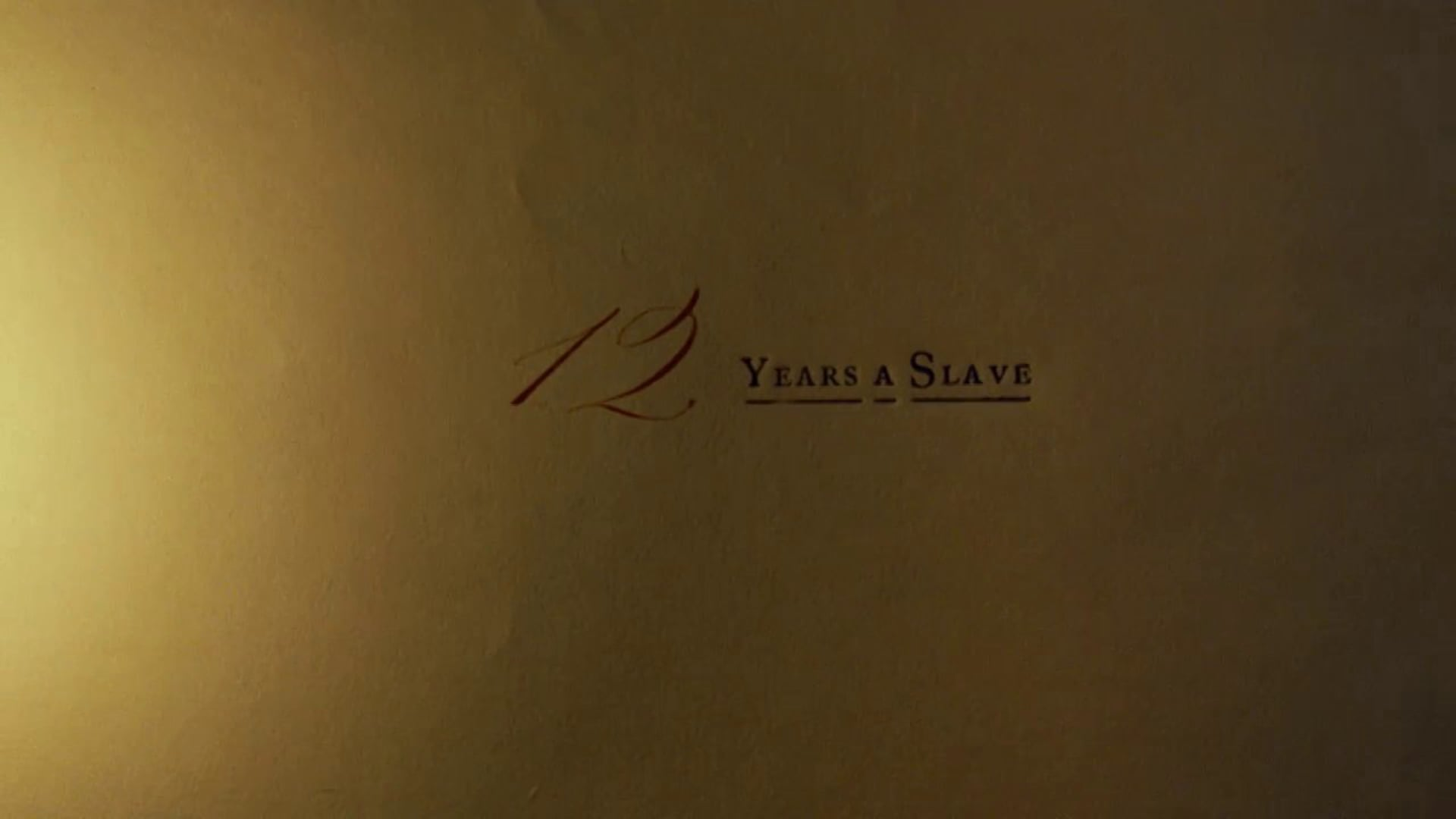 12 Years a Slave - Titles and Main on Ends
