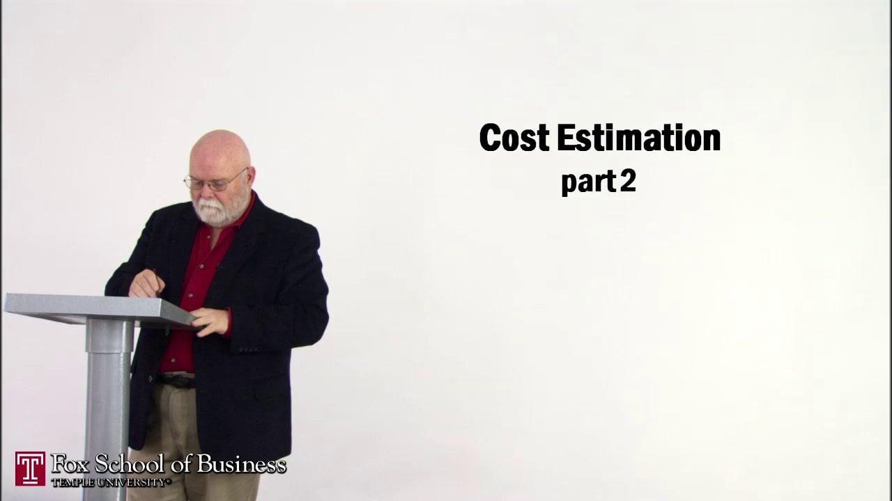 56835Cost Estimation II
