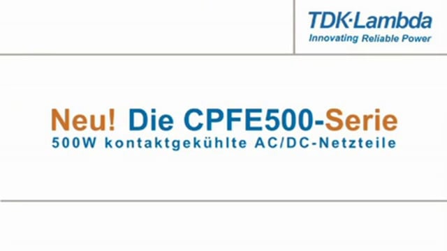 CPFE500 500W Baseplate Cooled Produkt Video