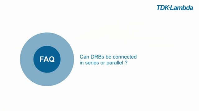 DRB FAQ Can the DRB be used in series or parallel?