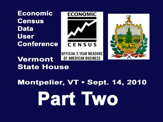 Economic Census Data User Conference Part Two