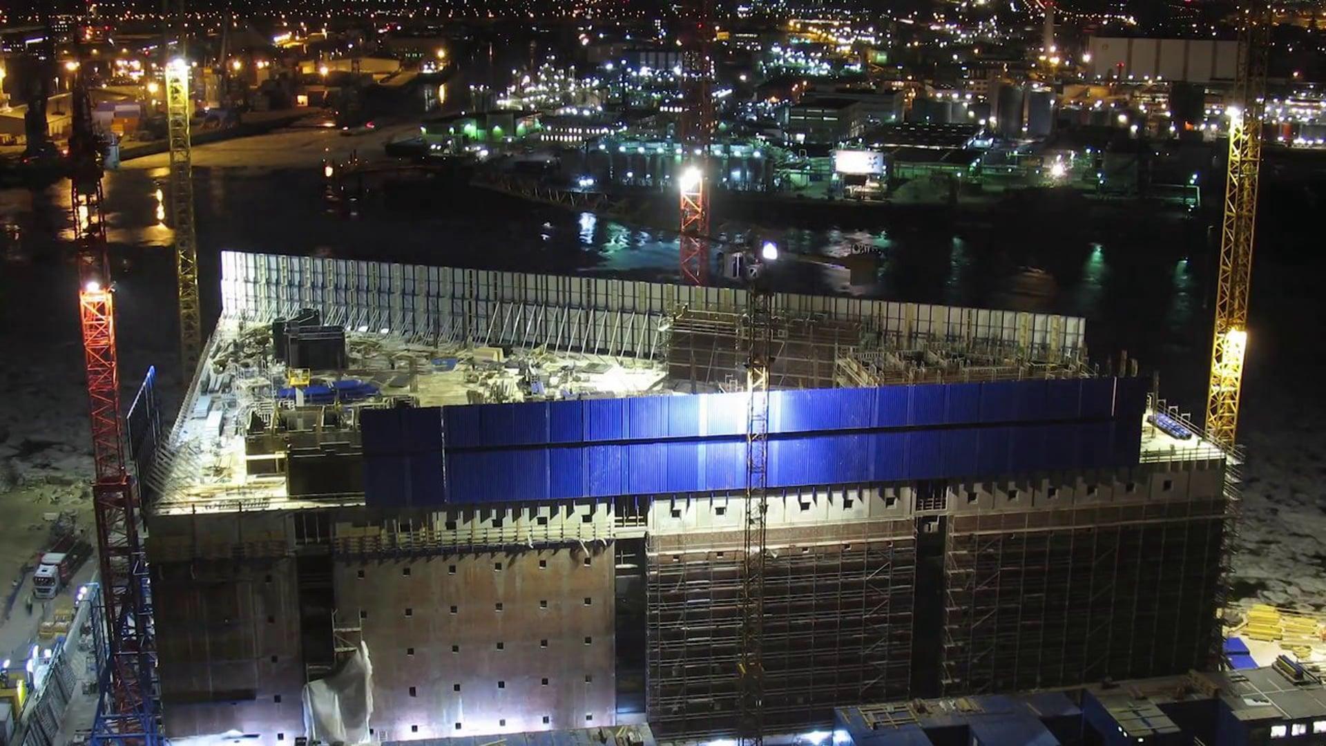 Bauzeitraffer Elbphilharmonie  - Elbe Philharmonic construction time lapse