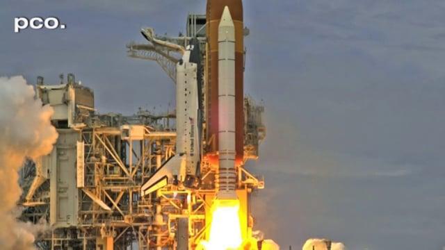 STS-135 Last Space Shuttle start in slow motion