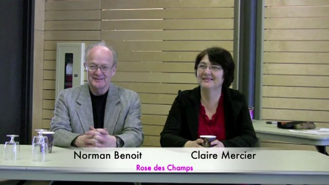 """Claire Mercier et Norman Benoit au R.J.É. """"Tout le monde Jardine"""""""