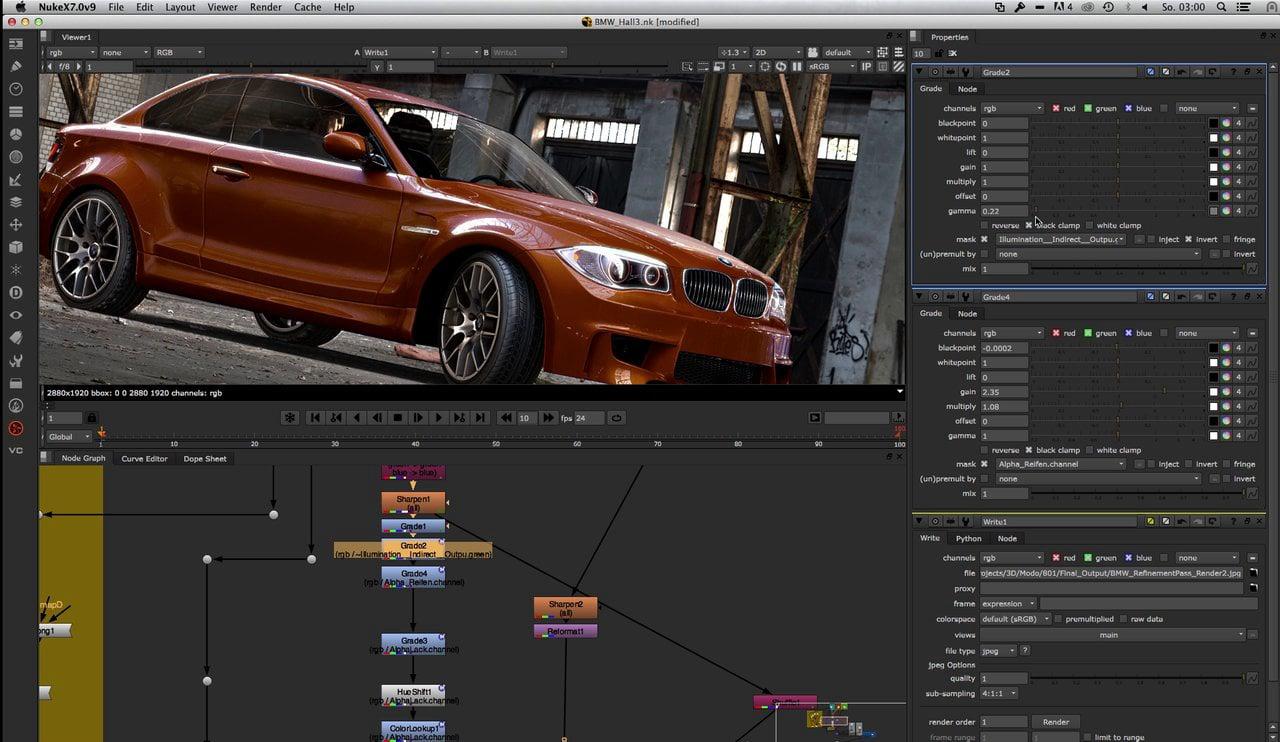 BMW Modo ----> NukeX Comp and Relight