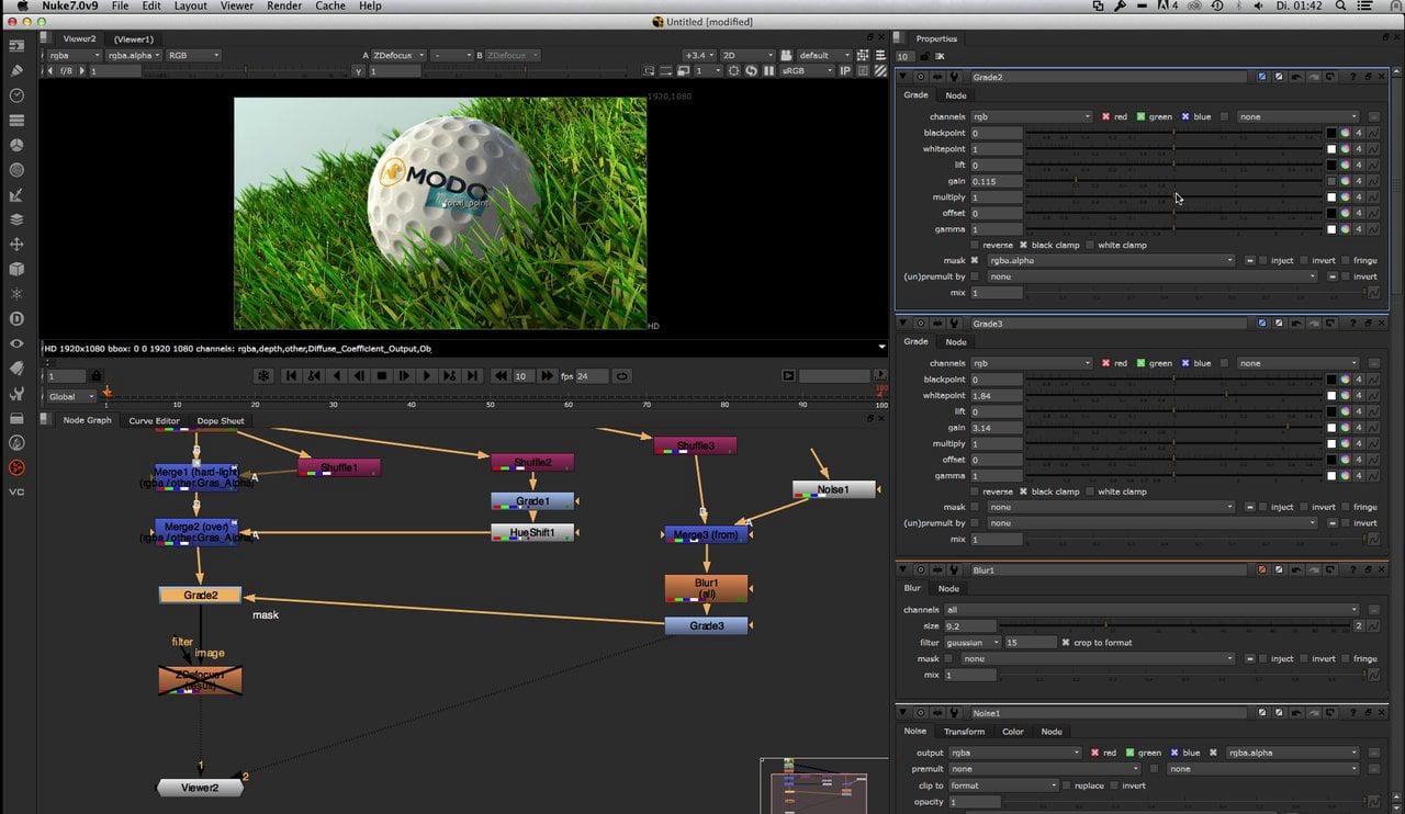 Modo 701 Mesh Fusion Golfball Comp