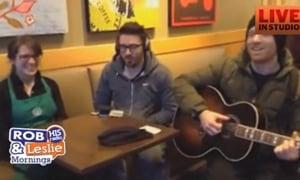 Danny Gokey Downtown in Starbucks with Impromptu Concert