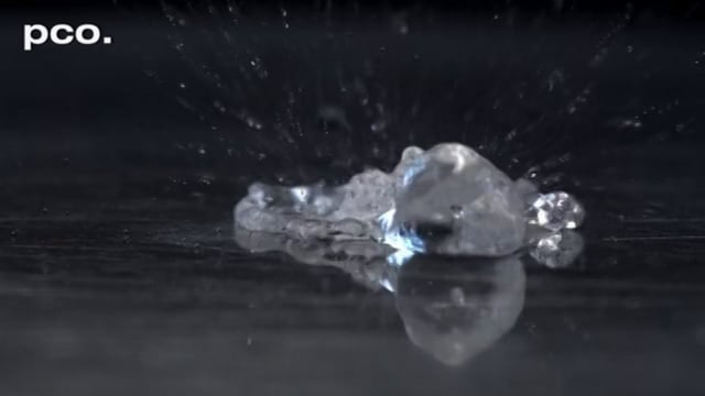 Magic Hot Drops in Slow Motion