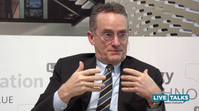 Howard Marks, Chairman & Co-founder, Oaktree Capital Management at Live Talks Business Forum;  with Keith Ferrazzi