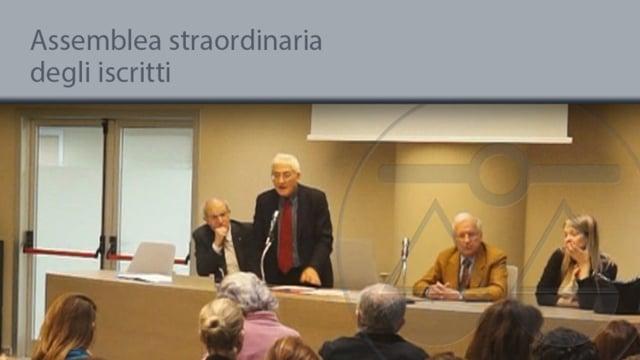 Assemblea straordinaria degli iscritti - 28/2/2014