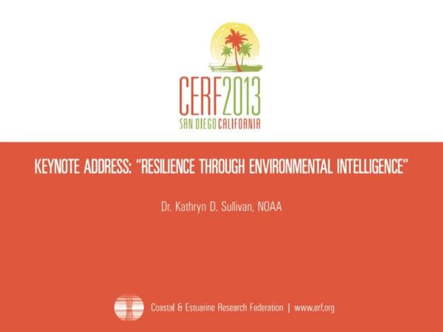 Keynote Address: Resilience Through Environmental Intelligence