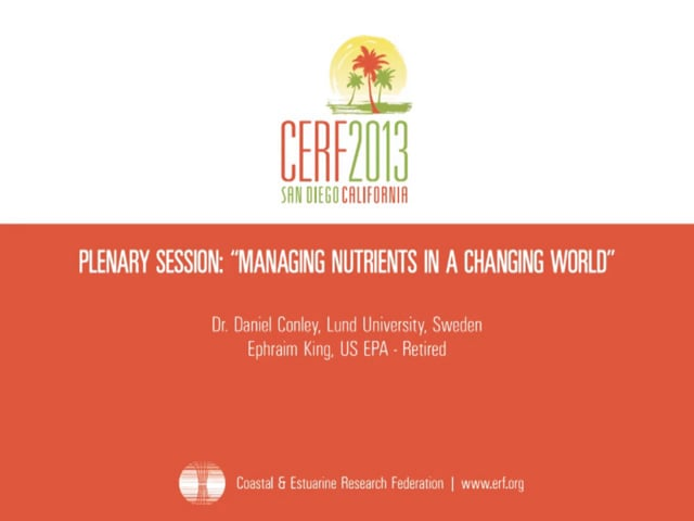 Plenary Session: Managing Nutrients in a Changing World