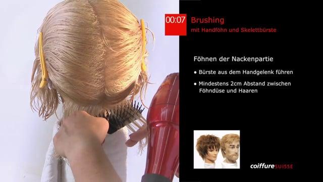 5. Das Formen mit dem Handföhn (Kurzhaar Brushing)