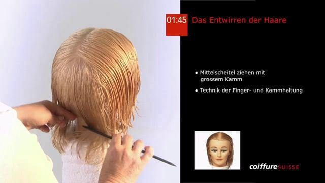4. Das Entwirren der Haare