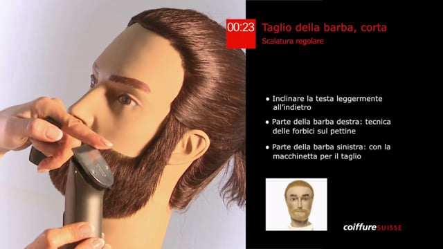 38. Taglio della barba (molto corta)
