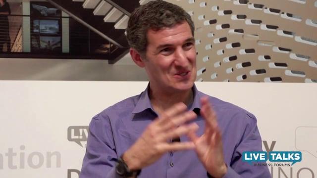 Seth Goldman, CEO, Honest Tea at Live Talks Business Forum; with Keith Ferrazzi