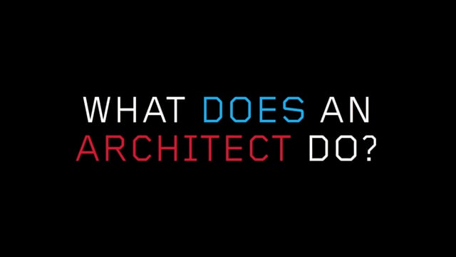 What does an architect do? Video