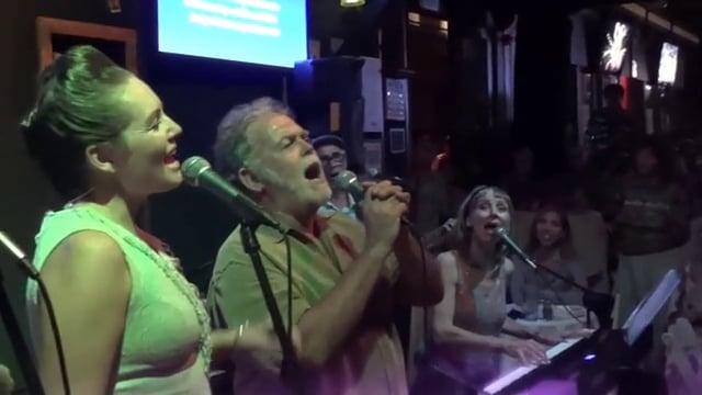 Jason Schwartz sings with Louise Lambert & company at Beatles show