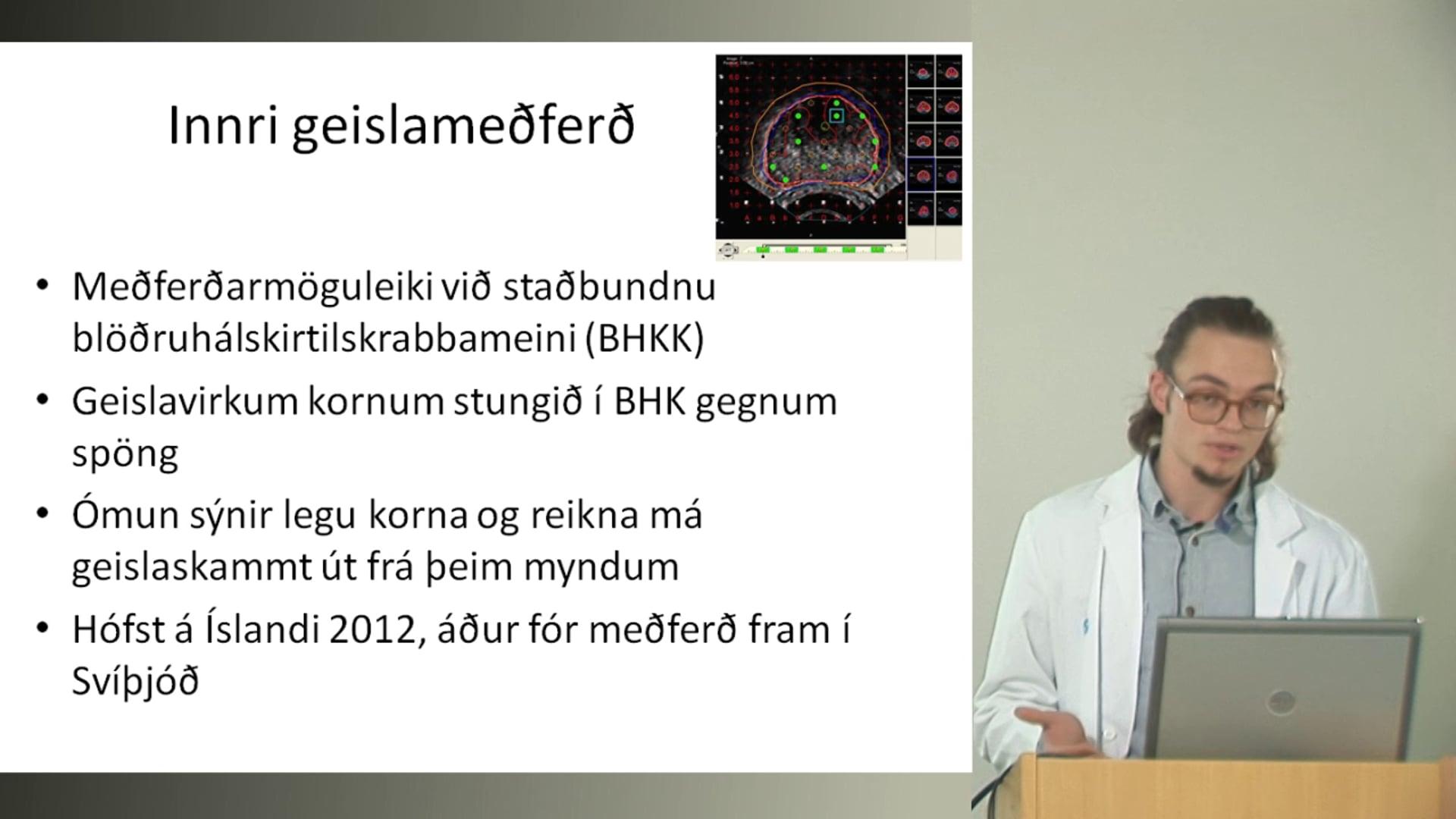 28 - Innri geislameðferð við blöðruhálskirtilskrabbameini á Íslandi