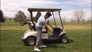 Follow Through Bracing With A Golf Cart