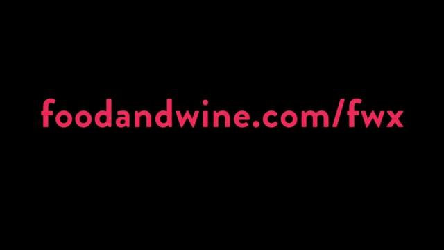 Food & Wine Magazine's FWx campaign