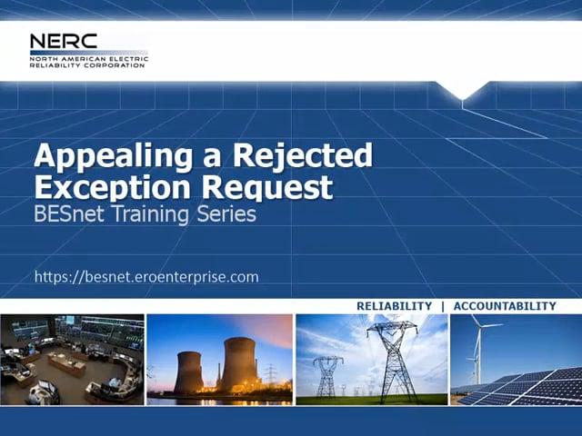 Appealing a Rejected Exception Request
