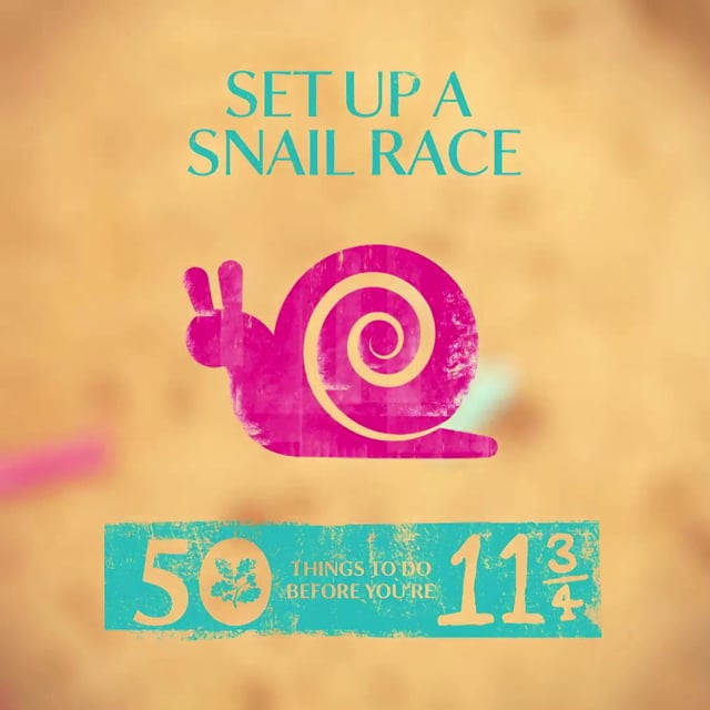 NATIONAL TRUST #50THINGS - SET UP A SNAIL RACE