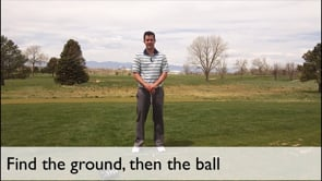 Find The Ground, Then The Ball