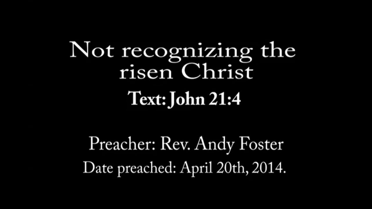Not recognizing the risen Christ