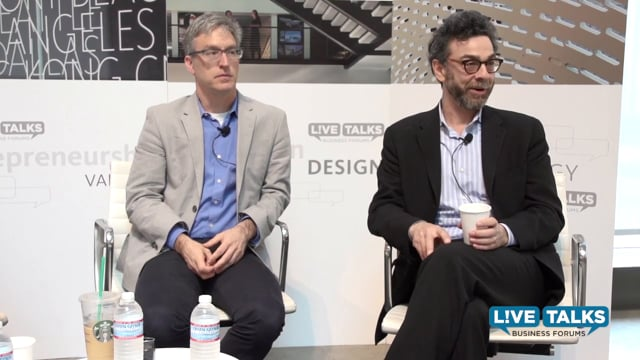 Steven Levitt & Stephen Dubner at Live Talks Business Forum, with Keith Ferrazzi