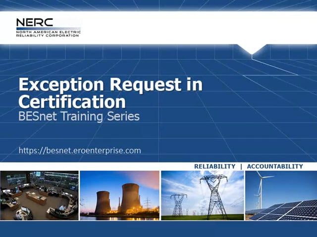 Exception Request in Certification
