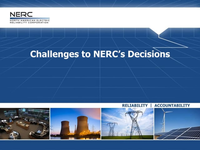 Challenges to NERC's Decisions