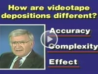 Video Depositions and Courtroom Playbacks