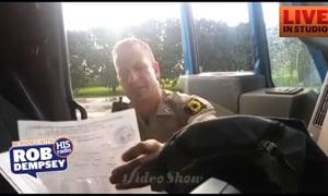 Semi Driver Pulls Over Cop