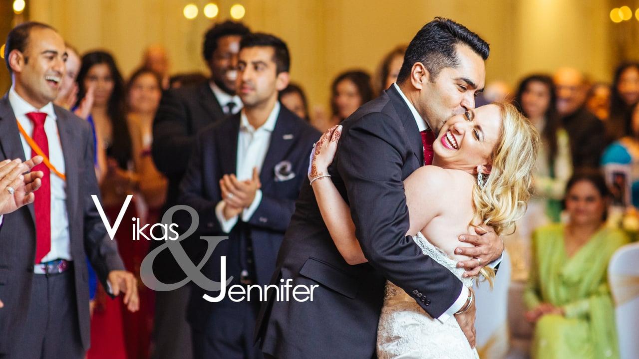 Vikas & Jennifer - The Entrance...
