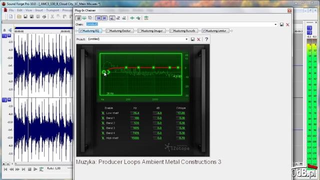Korekcja z pakietem iZotope w Sound Forge Pro