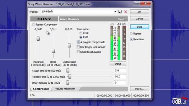Przedstawienie procesora Wave Hammer (Sony Sound Forge)