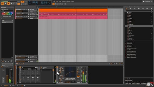 Side-Chain (kluczowanie) w Bitwig Studio