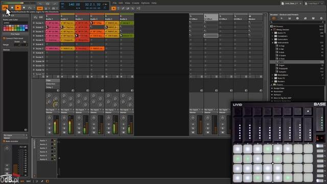 Bitwig Studio i kontroler Livid Base