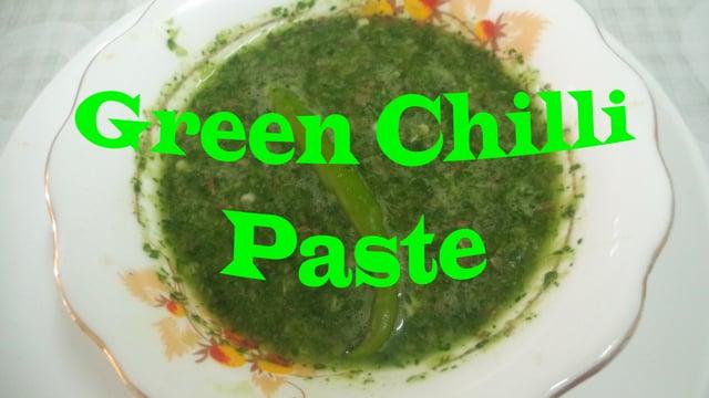 Zöld chili paszta