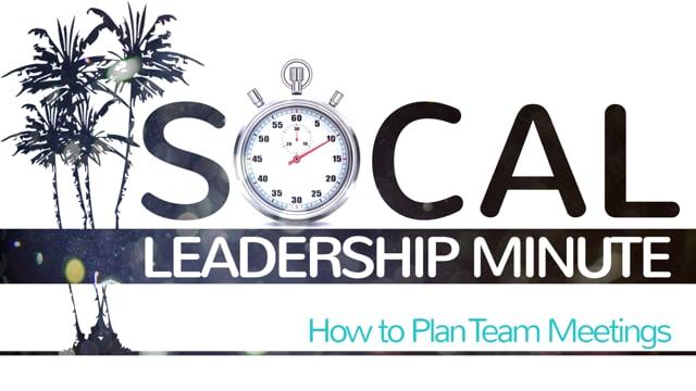 How to Plan Team Meetings