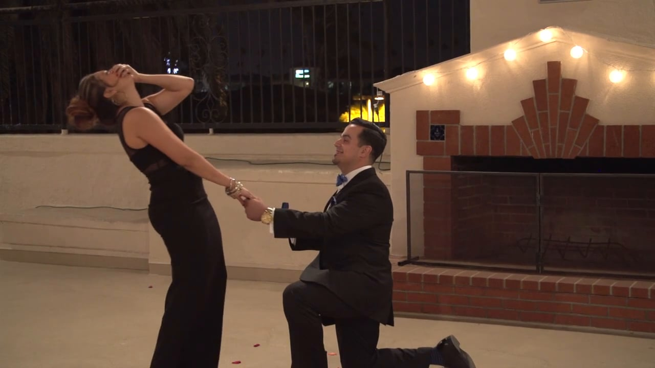 Johana + Naz - Surprise Rooftop Proposal of Marriage at the Riverside Art Museum