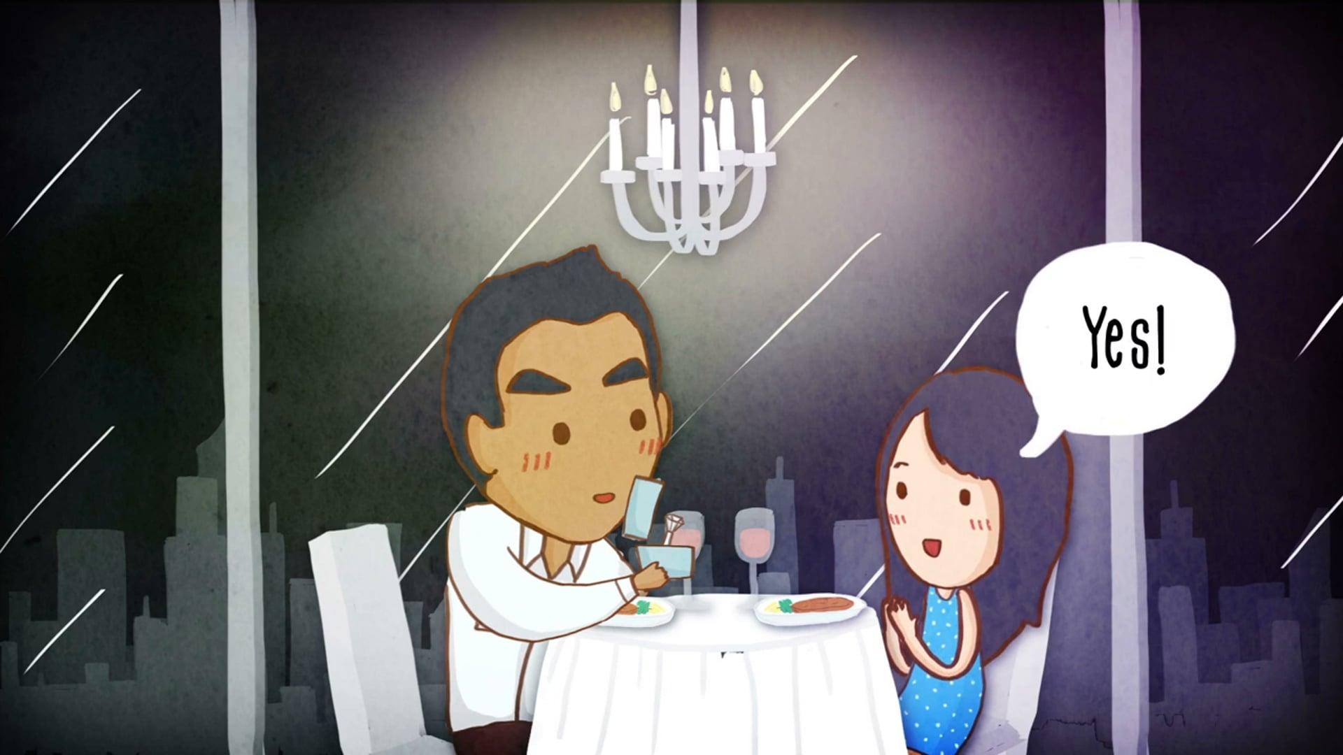 Wedding Cartoon Animation - Karyn and Adil