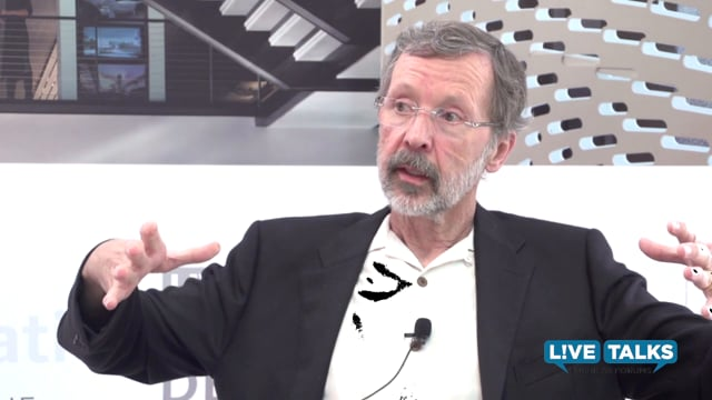 Ed Catmull, co-founder of Pixar Animation Studios, at Live Talks Business Forum