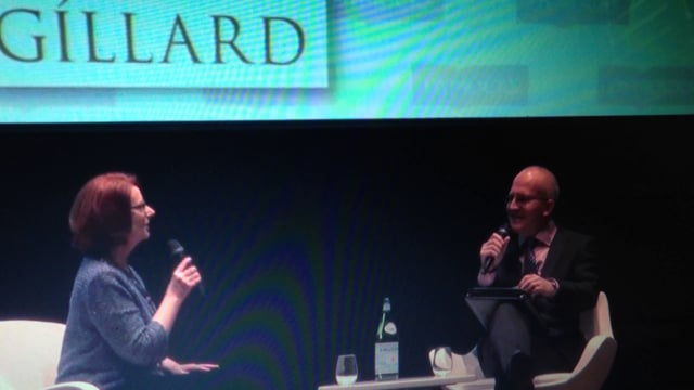 """Discussing """"Game of Thrones"""" with Julia Gillard at the Dymocks Conference"""