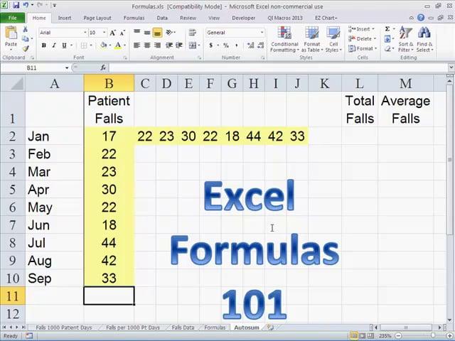 Excel Formulas 101 - the basics