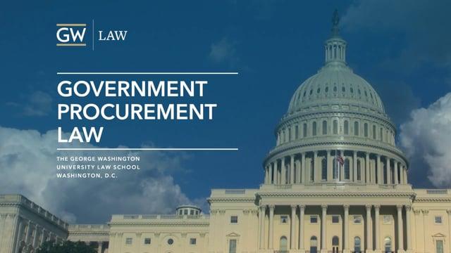 Government Procurement at GW Law